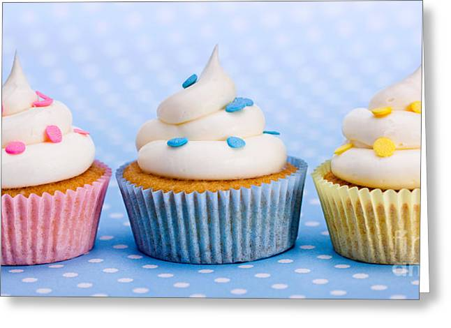 Trio Greeting Cards - Cupcakes Greeting Card by Ruth Black