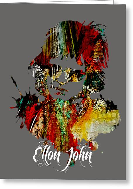 Elton John Collection Greeting Card by Marvin Blaine