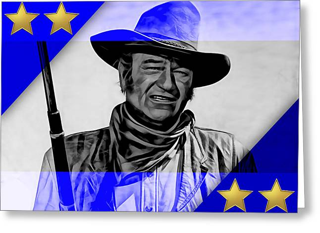 John Greeting Cards - John Wayne Collection Greeting Card by Marvin Blaine