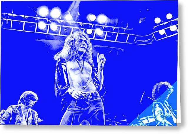 Blues Greeting Cards - Led Zeppelin Collection Greeting Card by Marvin Blaine