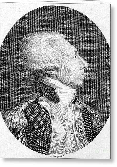 Fayette Greeting Cards - Marquis De Lafayette Greeting Card by Granger