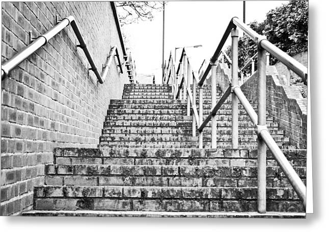 Grate Greeting Cards - Stone steps Greeting Card by Tom Gowanlock