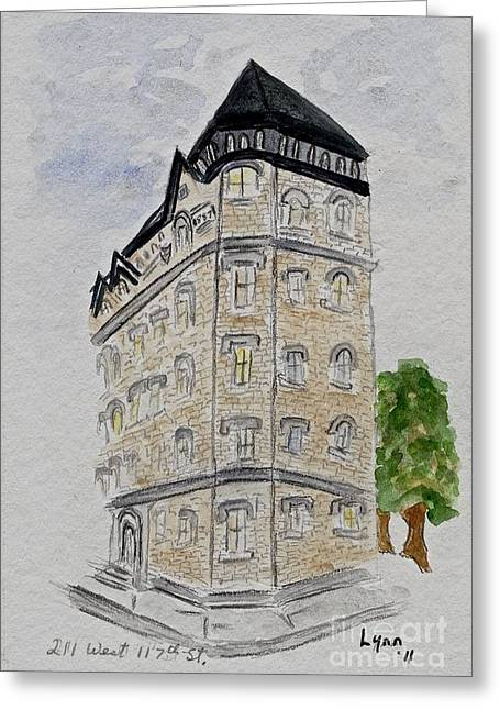 211 Greeting Cards - 211 West 117th St. Harlem Greeting Card by AFineLyne