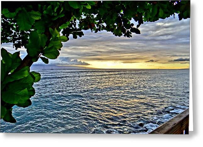 Lahaina Greeting Cards - 21st Century Greensleeves Greeting Card by Gary Ambessi