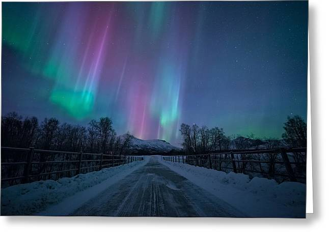 Northern Lights Greeting Cards - 22 Below Greeting Card by Tor-Ivar Naess