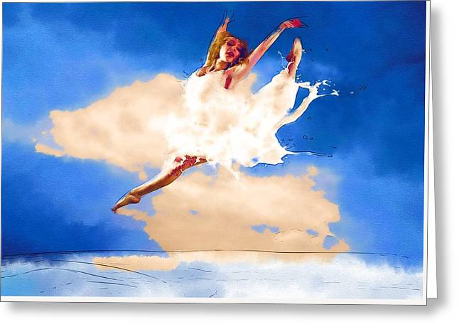 Lessons Greeting Cards - Dance Hip Greeting Card by Michael Vicin