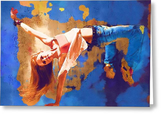 Ballet Dancers Greeting Cards - Dance Hop Greeting Card by Michael Vicin