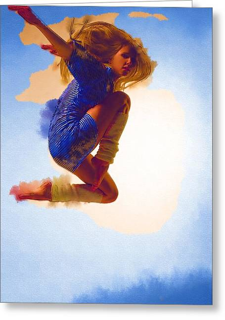 Ballet Dancers Greeting Cards - Dancer Greeting Card by Michael Vicin
