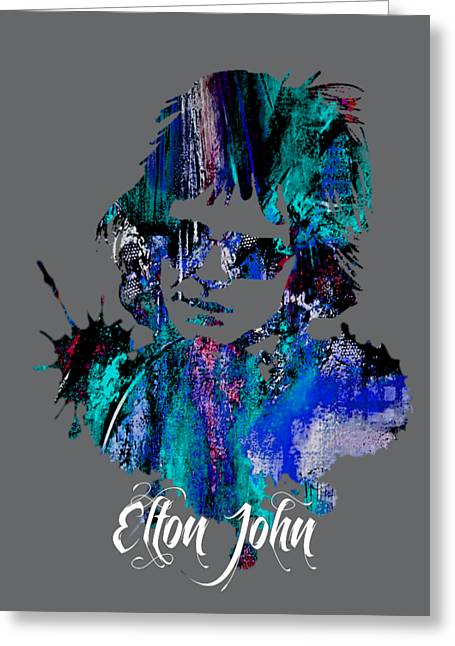 Musician Greeting Cards - Elton John Collection Greeting Card by Marvin Blaine