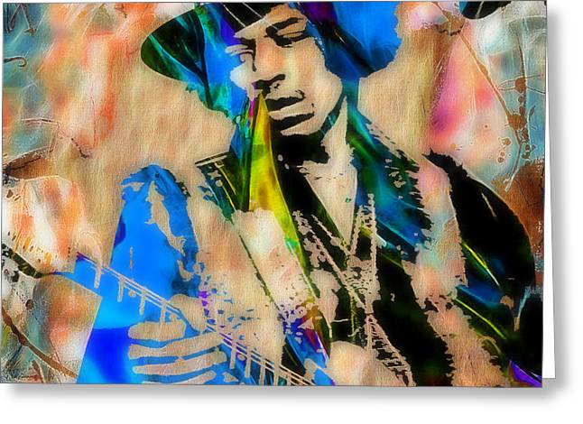 Psychedilic Greeting Cards - Jimi Hendrix Collection Greeting Card by Marvin Blaine