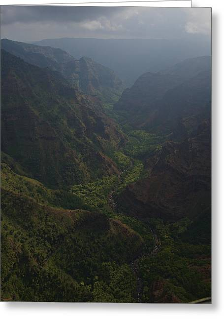 Keen Greeting Cards - Kauai Canyons Greeting Card by Steven Lapkin