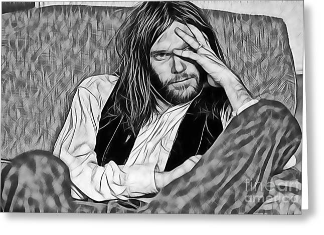 Neil Young Collection Greeting Card by Marvin Blaine