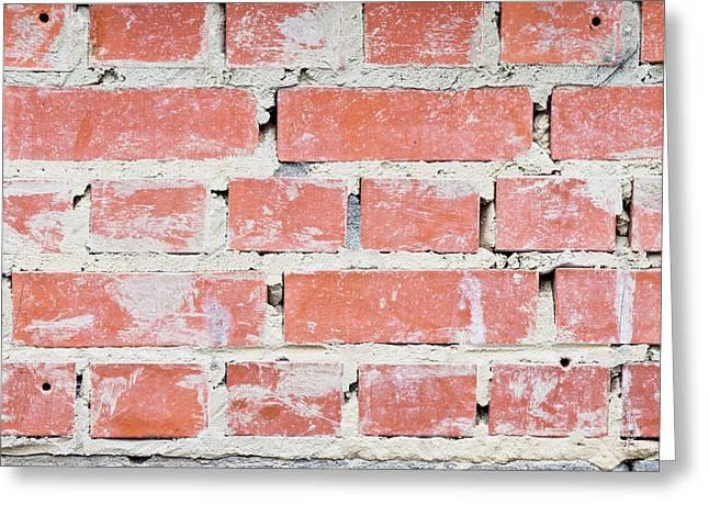 Surrounding Wall Greeting Cards - Brick wall Greeting Card by Tom Gowanlock