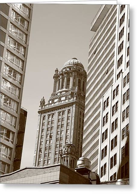 Chicago Skyscrapers Greeting Card by Frank Romeo
