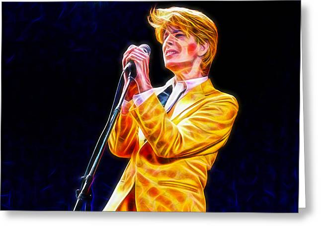 Musician Greeting Cards - David Bowie Collection Greeting Card by Marvin Blaine