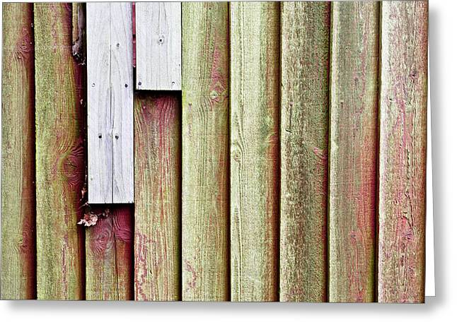 Coarse Greeting Cards - Fence panels Greeting Card by Tom Gowanlock