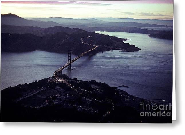 Golden Gate Greeting Cards - Golden Gate Bridge Greeting Card by Baron Wolman