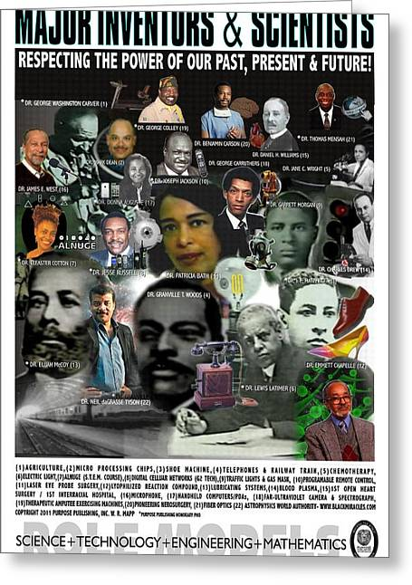 Michelle Obama Mixed Media Greeting Cards - Major Inventors and Scientists Greeting Card by Purpose Publishing