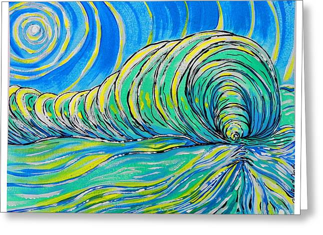 Melbourne Beach Greeting Cards - Surfart Greeting Card by W Gilroy