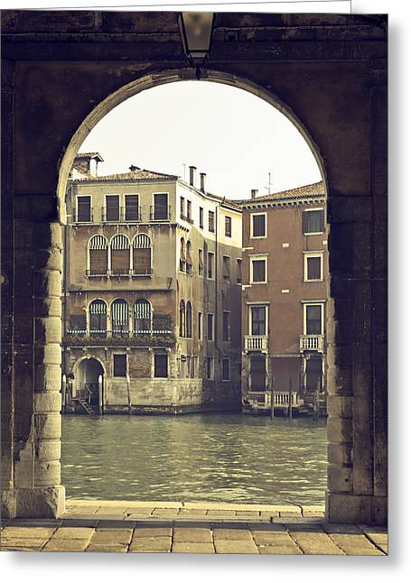 Dilapidated Photographs Greeting Cards - Venezia Greeting Card by Joana Kruse