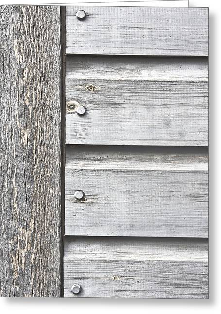 Shed Photographs Greeting Cards - Wooden background Greeting Card by Tom Gowanlock