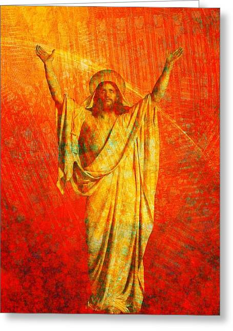 Passion Greeting Cards - Jesus Christ - Religious Art Greeting Card by Elena Kosvincheva