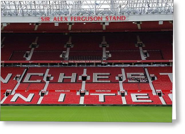 England - Manchester United Greeting Card by Jeffrey Shaw