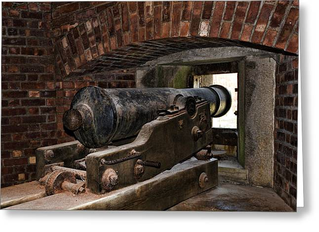 24 Pounder Cannon Greeting Card by Peter Chilelli