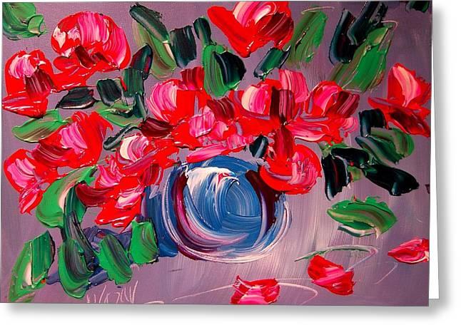Pinks And Purple Petals Mixed Media Greeting Cards - Roses Greeting Card by Mark Kazav