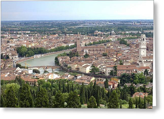 River Scenes Greeting Cards - Verona Greeting Card by Andre Goncalves