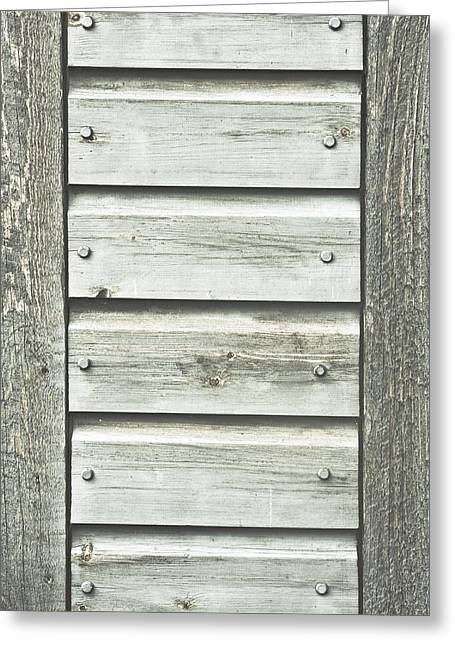 Outbuilding Greeting Cards - Wooden background Greeting Card by Tom Gowanlock