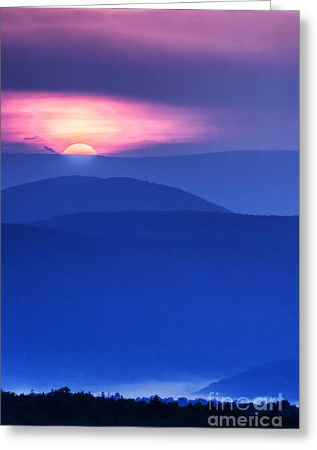 Peaceful Scene Greeting Cards - Allegheny Mountain Sunrise Greeting Card by Thomas R Fletcher