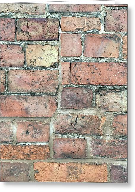 Basement Greeting Cards - Brick wall Greeting Card by Tom Gowanlock