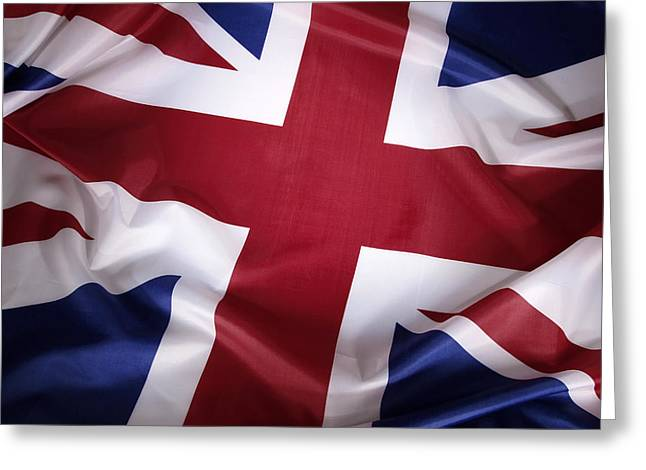 Flag Colors Greeting Cards - British flag Greeting Card by Les Cunliffe