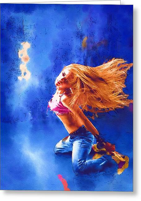 Game Greeting Cards - Dance Me Greeting Card by Michael Vicin