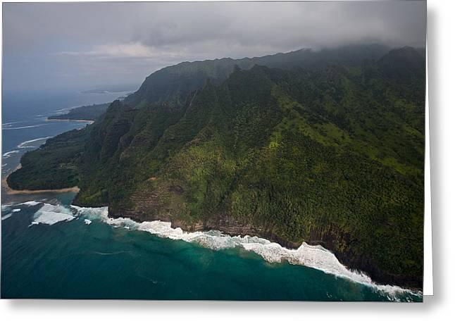 Keen Greeting Cards - Kauai Northwest Shoreline Greeting Card by Steven Lapkin