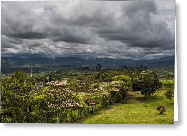 Field. Cloud Greeting Cards - Perez Zeledon Costa Rica Greeting Card by Michel Rathwell