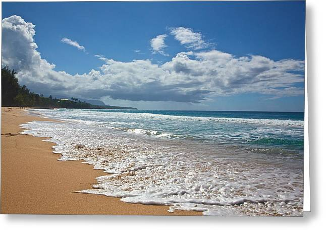 Waimea Falls Greeting Cards - Secret Beach Kauai Greeting Card by Steven Lapkin