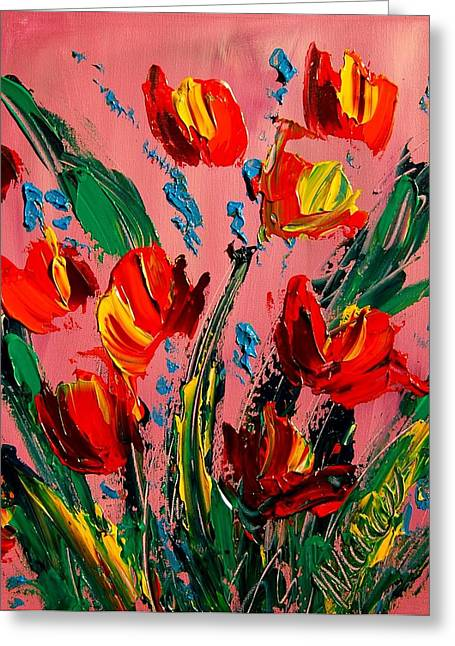 Fine Art Prints Framed Prints Greeting Cards - Tulips Greeting Card by Mark Kazav