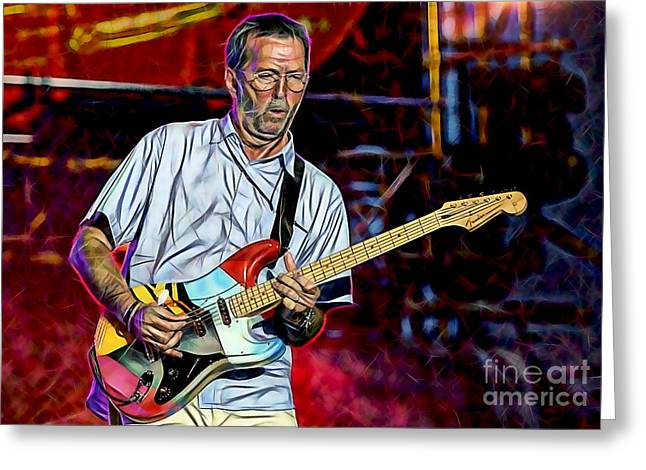Cream Greeting Cards - Eric Clapton Collection Greeting Card by Marvin Blaine