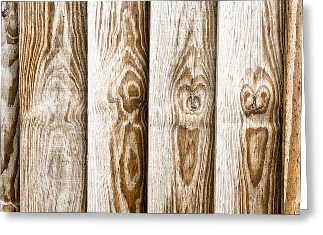 Wooden Fence Greeting Cards - Fence panels Greeting Card by Tom Gowanlock