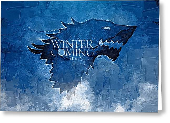 Frame House Digital Greeting Cards - Game Of Thrones Greeting Card by Victor Gladkiy
