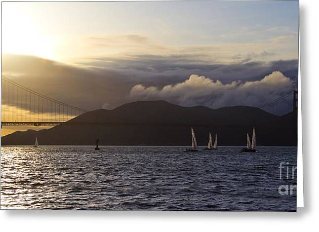 Recently Sold -  - Sailboat Art Greeting Cards - Golden Gate Bridge in San Francisco Greeting Card by ELITE IMAGE photography By Chad McDermott