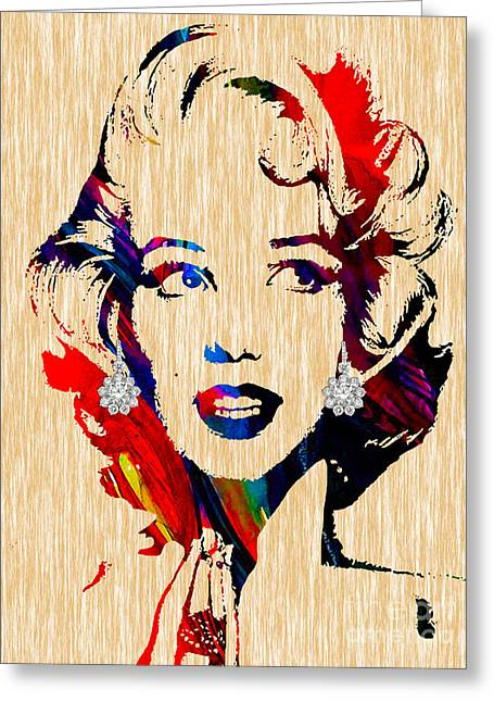 Marilyn Greeting Cards - Marilyn Monroe Collection Greeting Card by Marvin Blaine