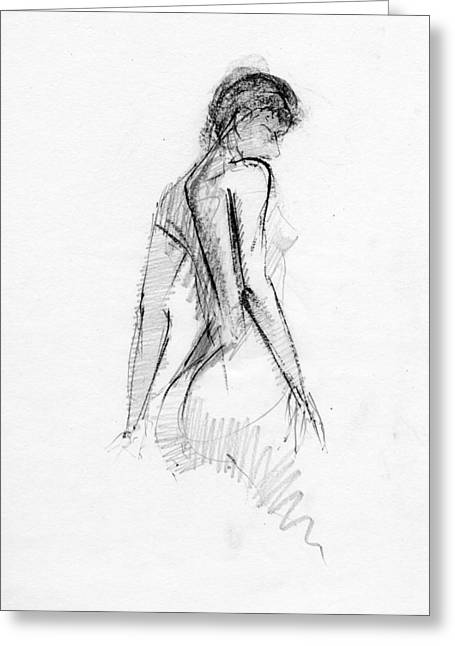 Conte Pencil Drawings Greeting Cards - RCNpaintings.com Greeting Card by Chris N Rohrbach