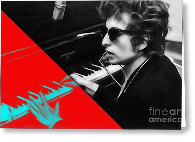 Gold Greeting Cards - Bob Dylan Collection Greeting Card by Marvin Blaine