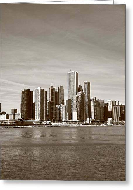Pier Framed Prints Greeting Cards - Chicago Skyline Greeting Card by Frank Romeo