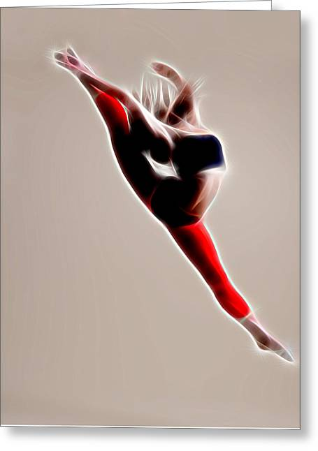 Ballet Dancers Greeting Cards - Dance And Greeting Card by Michael Vicin