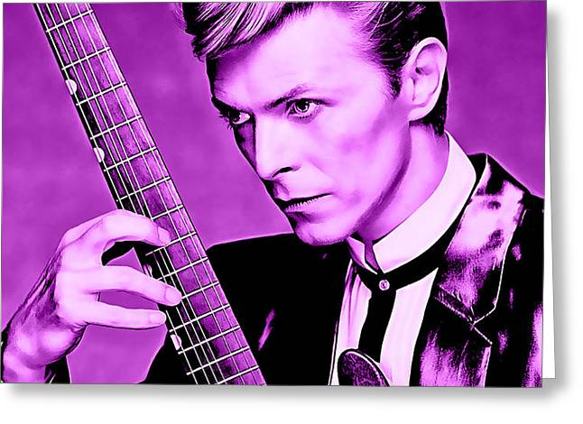 David Bowie Greeting Cards - David Bowie Collection Greeting Card by Marvin Blaine