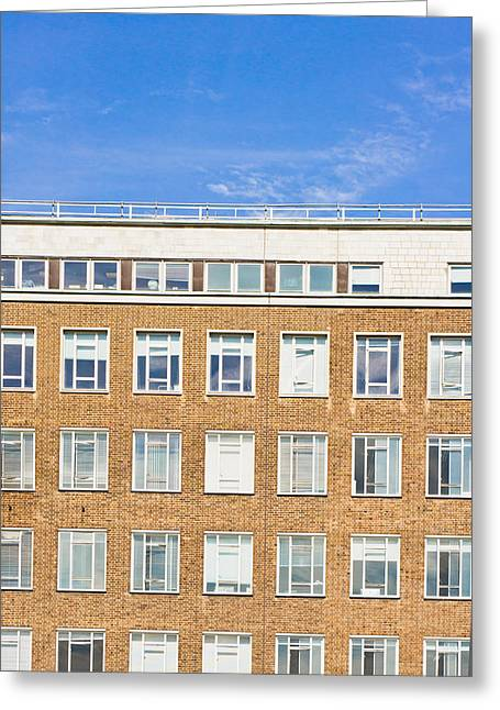 Modern Building Greeting Card by Tom Gowanlock